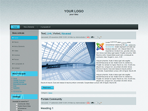 Template preview: Jeans per Joomla