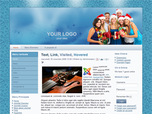 Template preview: Natale per Joomla 1.5
