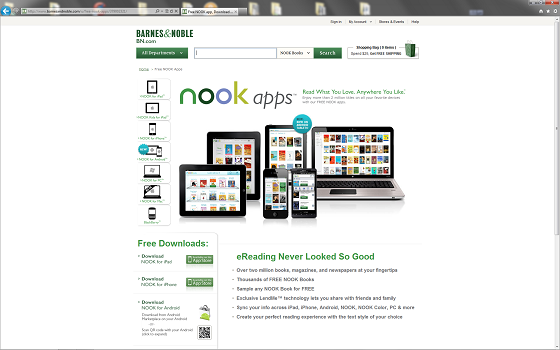 Nook di Barnes and Noble