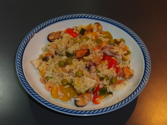 Ricetta paella di pesce surgelata