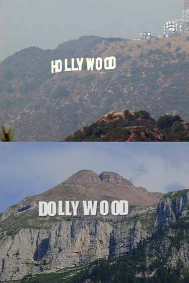 Hollywood reale e Dollywood immaginaria