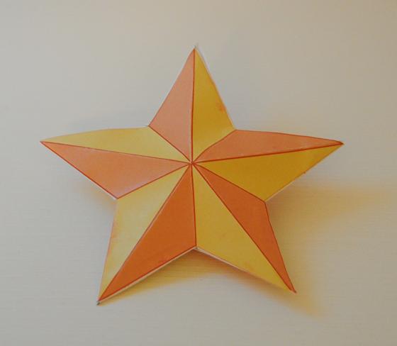Decorazioni natalizie tridimensionali con inkscape csi for Stelle di carta tridimensionali