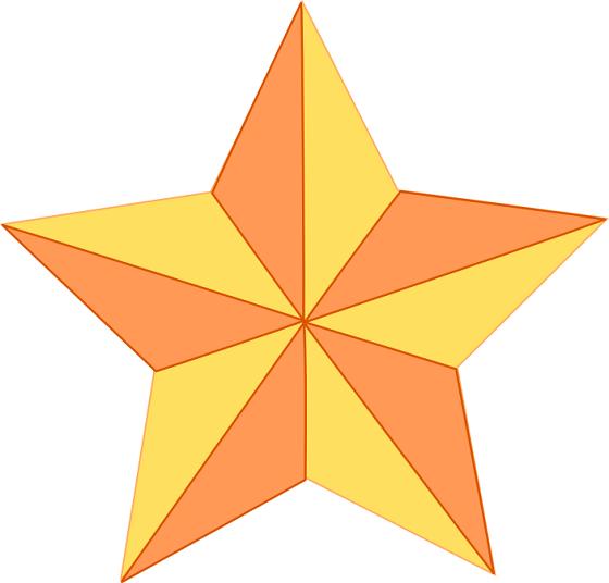 disegnare una stella in rilievo con inkscape - csi multimedia - Disegno Stella Colorate