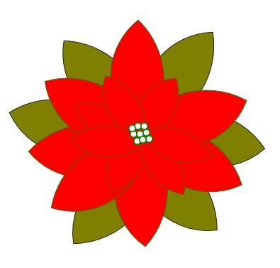 disegnare una stella di natale con inkscape - csi multimedia - Disegno Stella Colorate