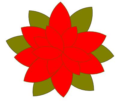 Stella Di Natale Cartamodello.Disegnare Una Stella Di Natale Con Inkscape Csi Multimedia