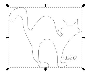 Decorazioni in feltro per halloween con inkscape csi for Gatti in pannolenci
